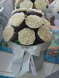 Chocolate Rose Cupcake Bouquet by sugarcrushmiami, via Flickr