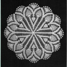 crochet doilycenter piece table decoration PATTERN by UMKA11, $4.98