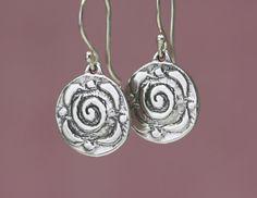 Artisan Sterling Silver Rose Earrings – Calieri