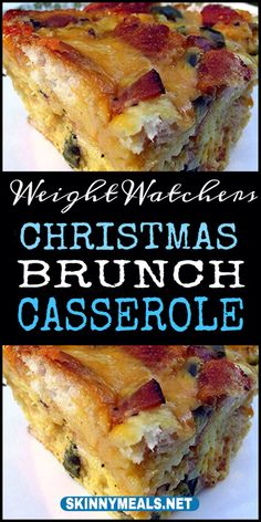 "Christmas Brunch Casserole Believe me, They told us it was the most beautiful place with tropical scents and flavors, and that they completely understand why it's called ""the land of smiles"". Weight Watchers Breakfast, Weight Watchers Diet, Weight Watcher Dinners, Ww Recipes, Brunch Recipes, Breakfast Recipes, Cooking Recipes, Breakfast Ideas, Healthy Recipes"