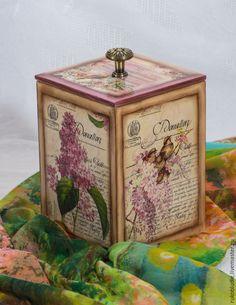 """Купить Короб для специй """"Нежность"""" - разноцветный, кухня, интерьер, короб, специи, подарок для женщины"""