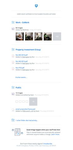 Matthew and 6 others made changes in your shared folders Investment Group, Shared Folder, Best Email, Email Design, Investing, Change, Shit Happens, Opportunity, Universe