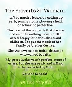 Free Printable - The Proverbs 31 Woman - Time-Warp Wife | Time-Warp Wife