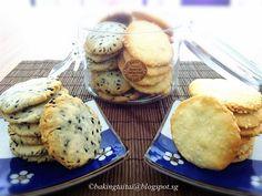 Baking Taitai 烘焙太太: Sesame Cookies Tutorial Recipe 奶油芝麻饼干 (中英食谱教程)
