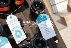 Dettaglio tableau de mariage tema vino