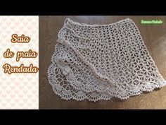 Capa para Bíblia com alça Crochê Passo a Passo Claudete Azevedo - YouTube Crochet Skirts, Crochet Clothes, Crochet Lace, Crochet Bikini, Tatting Patterns, Crochet Patterns, Luck Symbol, Symbol Tattoos, Beach Skirt