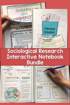 High school sociology experiment ideas high school school and sociological research interactive notebook complete unit bundle fandeluxe Gallery