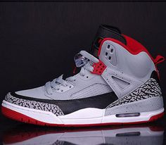 Jordan Spiz'ike – Wolf Grey / Gym Red – Black