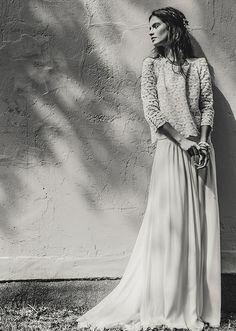 Laurent Nivalle - La mariee aux pieds nus - Laure de Sagazan - Robes de mariee - Collection 2015 - Top Decker - Jupe Desplechin - 2 | la mariee aux pieds nus