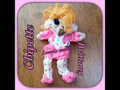 Rainbow Loom Alvin and the Chipmunks Chipette - BRITTANY figure. Designed and loomed by Tash Webber at Loomie World. Click photo for YouTube tutorial. 08/19/14.