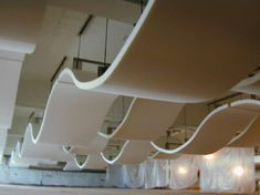 Acoustic ceiling wave canopies | Creative Acoustics in ...