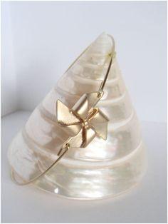 Gold pinwheel bangle  Gold pinwheel bracelet  by Cecileis on Etsy, $11.00
