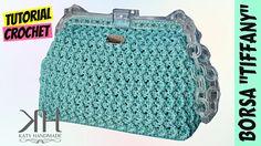 "Tutorial uncinetto borsa ""Tiffany"" | Punto zig zag || Katy Handmade"