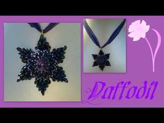 Video: Super duo (Daffodil) Flower Pendant Beading Tutorial by HoneyBeads ~ Seed Bead Tutorials