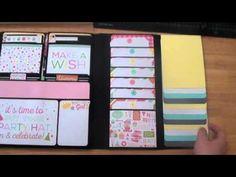 Birthday Girl Wishes Foto Folio using Paper Phenomenon's Foto Folio Style #4 Gatefold Folio tutorial and used Birthday Wishes Kit by Echo Park