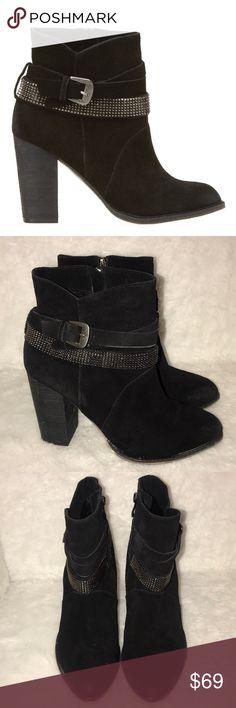Leather Nine West ZaZa booties