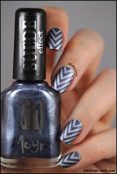 Moyra Suede Effect 503 & Stamping with Cheeky Jumbo Plate D