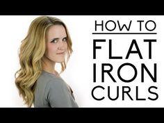 Flat Iron Curls Tutorial - YouTube