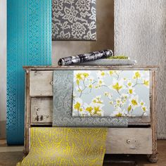 """@romo_fabrics's photo: """"An imaginative and innovative collection of wallcoverings from Black Edition featuring bold fretwork, contemporary florals and classic damasks #design #wallcovering #bold #innovative #interiors #contemporary"""""""