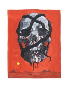 Skull of the Dread Zarfax . print by medusawolf on Etsy