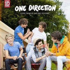 Caratula Frontal de One Direction - Live While We're Young (Cd Single)