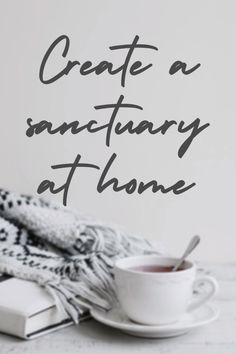5 simple and affordable suggestions to create your own feeling of sanctuary at home. Interior Design Tips, Good Mood, Stress Free, Create Your Own, Home Improvement, Relax, Homes, Interiors, Make It Yourself