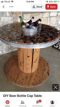 - Coming Soon - DIY beer bottle cap table .arkadasa … – Coming Soon – DIY beer bottle cap table bottle table, – # - Beer Bottle Crafts, Beer Cap Crafts, Bottle Cap Projects, Beer Bottles, Glass Bottles, Beer Cap Table, Bottle Cap Table, Bottle Cap Art, Bottle Stopper