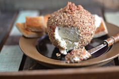 Cheddar Horseradish Cheese Ball, a home made holiday or party appetizer from Bakeaholic Mama on Healthyseasonalrecipes.com