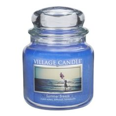 Village Candle Summer Breeze Premium Fragranced Candle. Delicate floral fragrance with a hint of Summer!