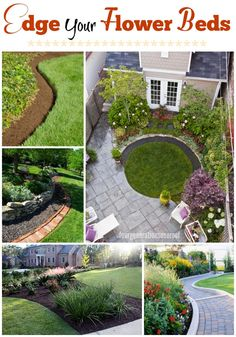 Finish off your flower bed with a perfect edge! Love these ideas. www.fourgenerationsoneroof.com #gardening #spring