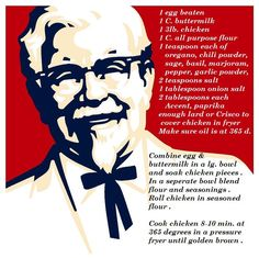 Kentucky Fried Chicken recipe .