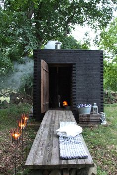 Ideas sauna hi_house_ideas architecture ideas house outdor art home apartment chalet loft loftdesign design lnteriordesign project Saunas, Sauna House, Sauna Design, Outdoor Sauna, Casas Containers, Cabins In The Woods, Cabana, Black House, Outdoor Living