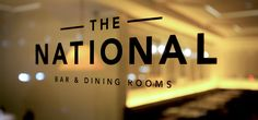 The National, NYC- Restaurant Identity (sign)