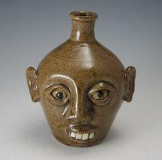 southern folk art face jugs   Don Craig Face Jug Catawba Valley North Carolina NC Folk Pottery