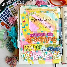Amanda Cabrera | Using Transparencies in your Bible - a creative way to not cover the words of your Bible | Mixed Media Bible Art Journaling