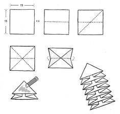 Triangle book tutorial. Step-by-step how-to make a triangle circular folding book, with all image credits to Na Rae Kim, Korean Bookarts Academy, Seoul.