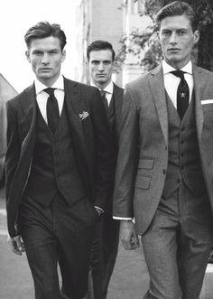 Hackett London. Bespoke. Men's Suit