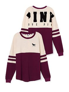 Cozy Bling Varsity Tee in Black, Gray and Red from PINK ($49.95 ...