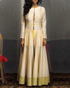 Ivory Jacket with Zari Embroidery- Buy Tunics & Tops,SVA By Sonam & Paras Modi - Lakme '14,SVA | Sonam & Paras Modi - Lakme '14 Online | Exclusively.in