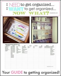 Your Guide to Getting Organized! | simplykierste.com