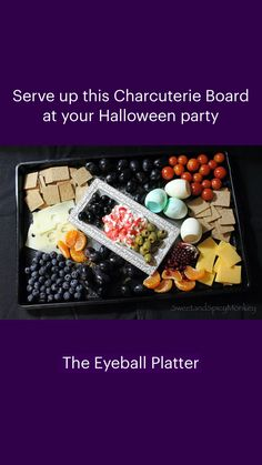 Charcuterie Board, Served Up, Sweet And Spicy, Party Snacks, Halloween Party, Monkey, Recipes, Food, Appetizers For Party