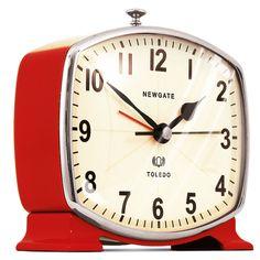 Toledo Alarm Clock Red  by Jim & Chloe Read