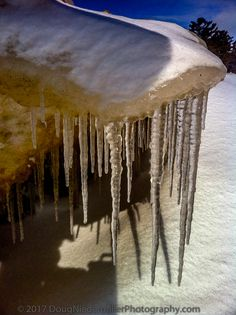 Ice Overhang Along The Shores of Lake Huron