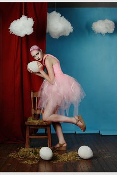 """Flamingo""  md: Anna Starodubtseva ph, costume designer, decorations: Ksenia Alizabal"