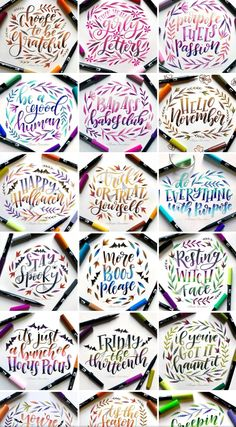 Hand Lettering Alphabet, Brush Lettering, Cute Qoutes, Doodle Art Drawing, Calligraphy Practice, Chalkboard Art, Letter Art, Brush Pen, Happy Birthday Cards