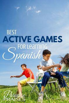 Best Active Games for Learning Spanish via http://paradisepraises.com