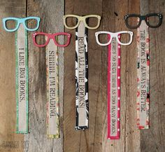 These could be made to look like spy glasses for VBS Cute Glasses and Fabric Bookmarks