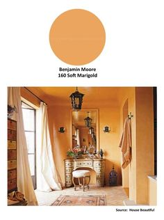 #Design tip: Create a warm glow with ORANGE painted walls