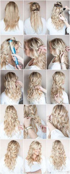 Braid Tutorial by Sunkissed and Made Up // blonde hair // braided hair // big waves