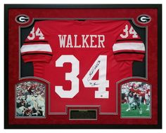 Herschel Walker Autographed Georgia Bulldogs Jersey - Custom Framed Shadow  Box 82 Heisman Baseball Jackets bf19d0097